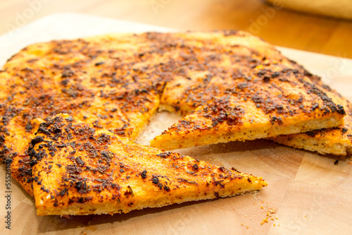 Pizza Bread with garlic and herbs - 55526102
