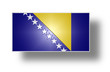 Flag of Bosnia and Herzegovina (stylized I).
