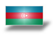 Flag of Azerbaijan (stylized I).