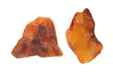 Unpolished amber stone isolated on white poster