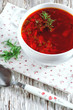 Red beetroot soup borsch