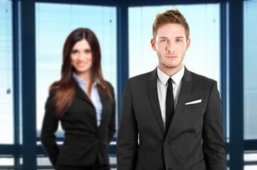 Couple of businesspeople