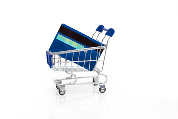 Shopping cart and credit cards
