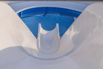 Water slide in the waterpark.