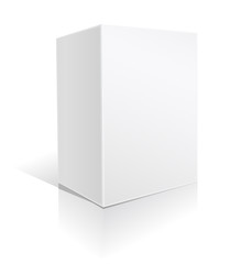 white big box on white