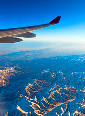 Air travel over the mountains