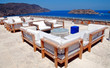 Outdoor furniture and terrace seaview (Crete, Greece)