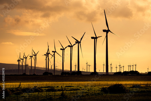 canvas print picture wind power