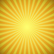 Sunburst bright yellow and orange background