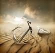 Boat in the desert - 55530711