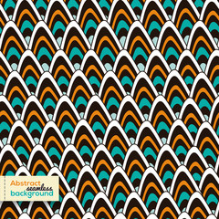 Abstract seamless peacock pattern