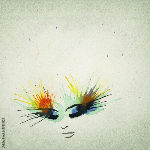 Fototapeten,frau,zeichnung,hintergrund,papier