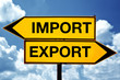Import or export, opposite signs