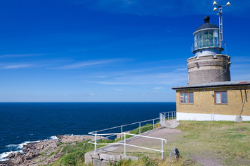 Lighthouse on Kullen hill in western Sweden