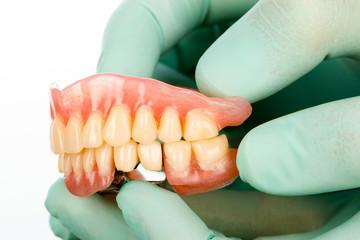Dentist with dental prostheises