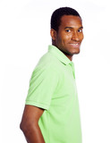 Young casual man portrait, isolated over white background