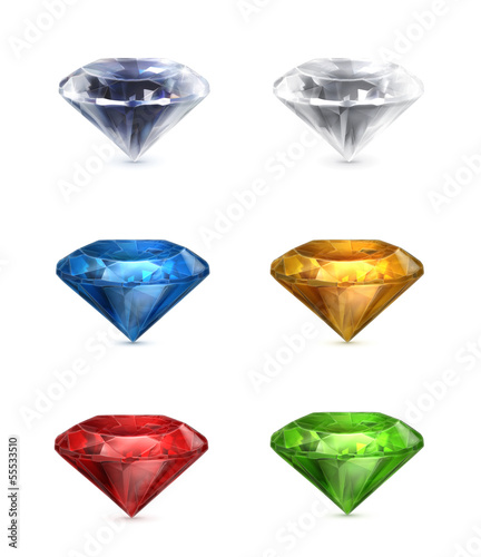 Gems set of vector icons