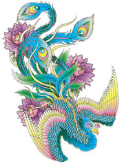 Japanese Style Peacock