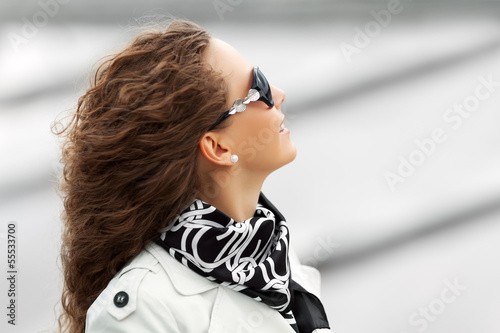 Beautiful woman in sunglasses