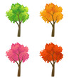 Colorful trees collection