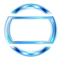 Vector glowing light blue shape