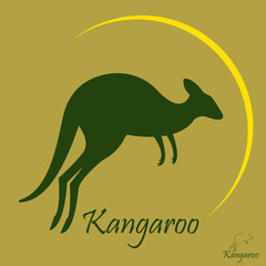 Vector image of an kangaroo