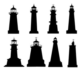 LIGHTHOUSE SILHOUETTES SET