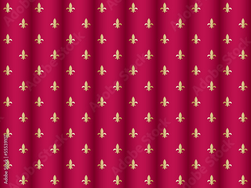 seamless curtain pattern with royal lilies