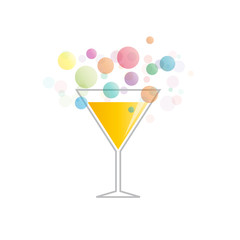 Vector Logo abstract cocktail