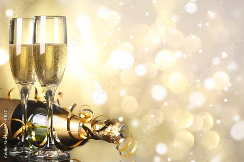 Leinwandbild Motiv Celebration with champagne