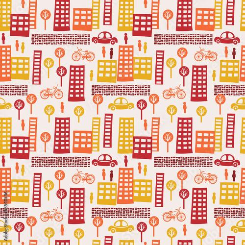 Tapeta City seamless pattern