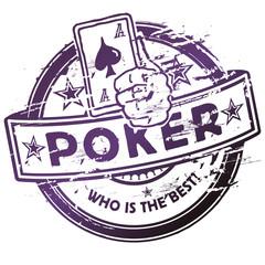Stempel Spielkarten und Poker