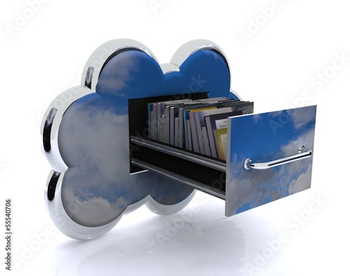 Cloud with sky background - archives concept