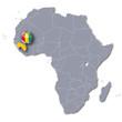 Afrikakarte mit Guinea