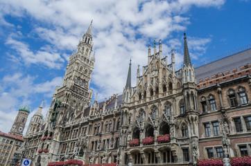 The Front of Old Rathaus in Marien Platz. Munich