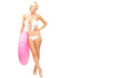 Blonde Frau im Bikini