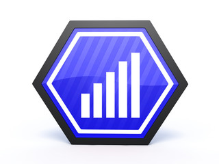 signal hexagon icon on white background
