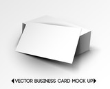 vector business card mock up design