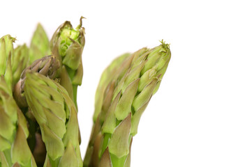 Close-up of top asparaguses.