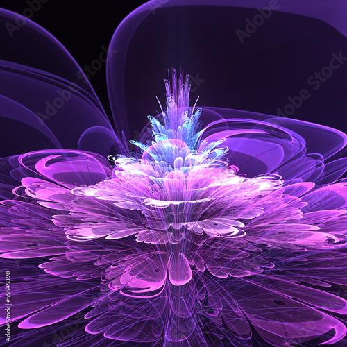 Fototapeten,blume,floral,fraktal,futuristisch
