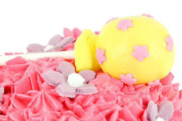cake with lollipop food background