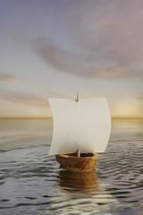 Sailing nutshell boat
