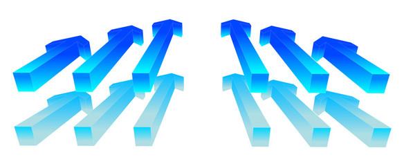 Blue Way Arrow