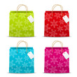 Set of Christmas paper bags