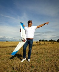 Rc pilot with delta wing