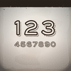 Vector Stylish Retro Numbers