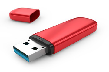 Portable flash usb drive memory.