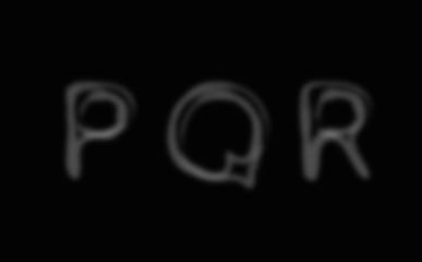 Smoke alphabet font. Letters P-R