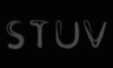 Smoke alphabet font. Letters S-V
