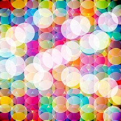 Abstract mosaic background made of colorful circles.